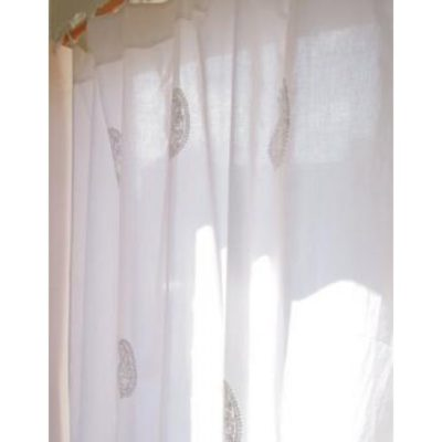 Hand Embroidered Chikan Curtain