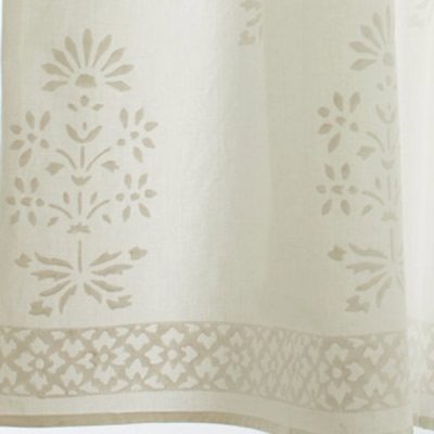 Classic Flower Motif Curtain