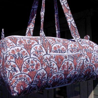 coral travel bag