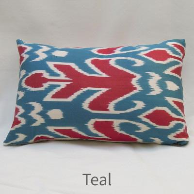 Silk cushion teal
