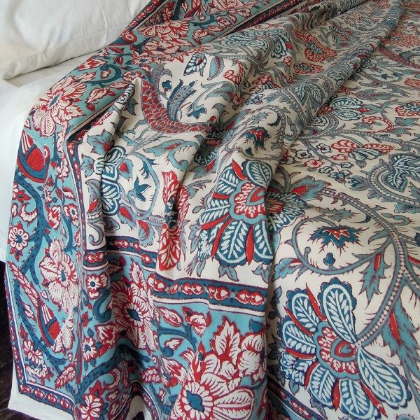 Indian Garden Bedspread