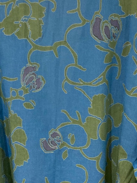Close up of blue green pattern