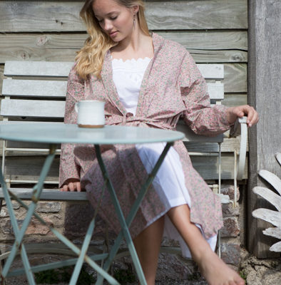 Cotton Print Dressing Gown