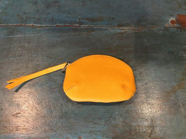 yellow coin purse