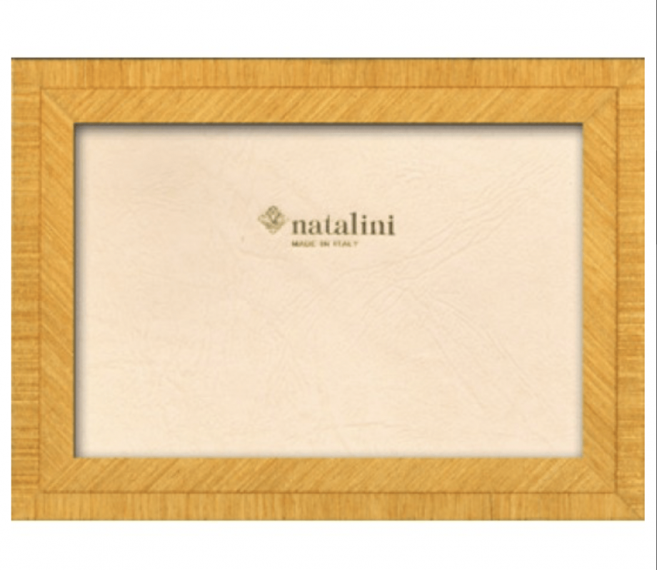 Yellow marquetry frame
